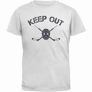 White | Keep Out | T-Shirt | Sportsness.ch