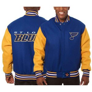 St. Louis Blues | JH Design Two-Tone All Wool Jacket | Sportsness.ch