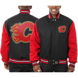 Calgary Flames | JH Design Two-Tone All Wool Jacket | Sportsness.ch
