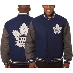 Toronto Maple Leafs | JH Design Two-Tone All Wool Jacket | Sportsness.ch
