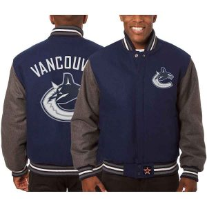 Vancouver Canucks | JH Design Two-Tone All Wool Jacket | Sportsness.ch
