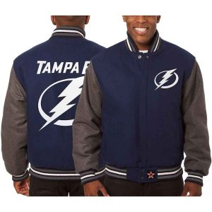 Tampa Bay Lightning | JH Design Two-Tone All Wool Jacket | Sportsness.ch