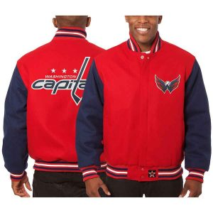 Washington Capitals | JH Design Two-Tone All Wool Jacket | Sportsness.ch