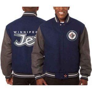Winnipeg Jets   JH Design Two-Tone All Wool Jacket   Sportsness.ch