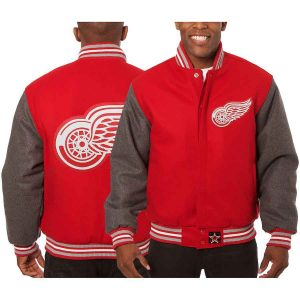 Detroit Red Wings | JH Design Two-Tone All Wool Jacket | Sportsness.ch