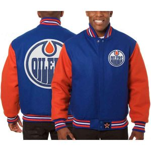 Edmonton Oilers | JH Design Two-Tone All Wool Jacket | Sportsness.ch