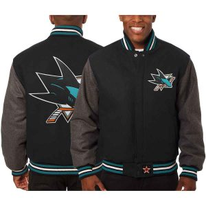 San Jose Sharks | JH Design Two-Tone All Wool Jacket | Sportsness.ch