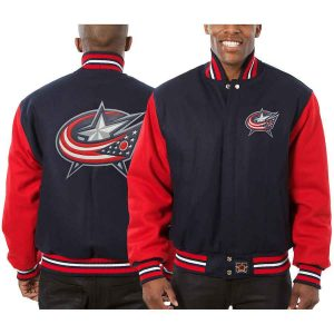 Columbus Blue Jackets | JH Design Two-Tone All Wool Jacket | Sportsness.ch