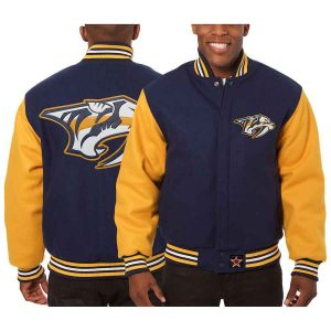 Nashville Predators | JH Design Two-Tone All Wool Jacket | Sportsness.ch