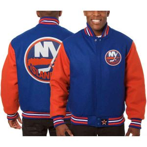 New York Islanders | JH Design Two-Tone All Wool Jacket | Sportsness.ch