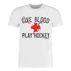 GIVE BLOOD PLAY HOCKEY Eishockey T-Shirt | Sportsness.ch